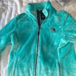 Aqua north face. Worn once. Great condition